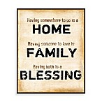 Home, Family, Blessings Wall Art