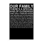 Inspirational Family Canvas