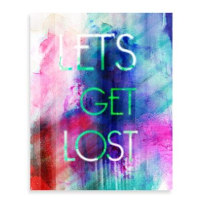 Let's Get Lost Wall Décor