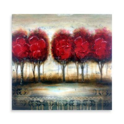 Red Tree Wall Art II