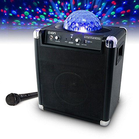 portable karaoke machine with built in light show