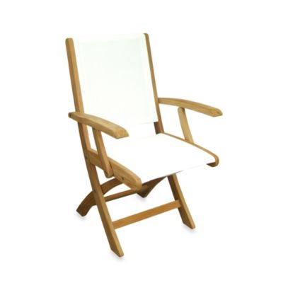 Riviera Folding Armchair in White