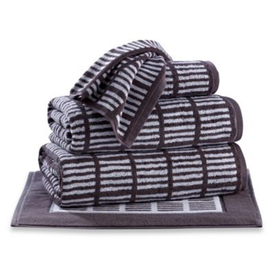 Real Simple® Hand Towel in Charcoal/White