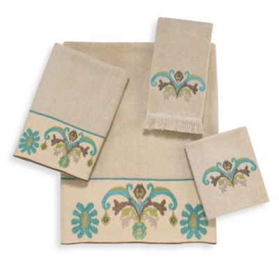 Avanti Southwest Tale Fingertip Towel in Linen