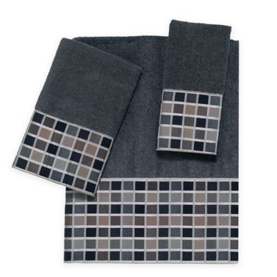 Avanti Kaleidoscope Bath Towel in Granite