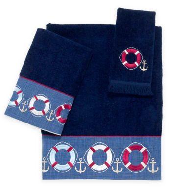 Avanti Life Preserver Hand Towel in Indigo