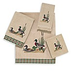 Avanti Mallard Ducks Washcloth in Linen