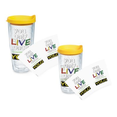Tervis® You Only Live Once (YOLO) Wrap 16-Ounce Tumbler with Yellow Lid