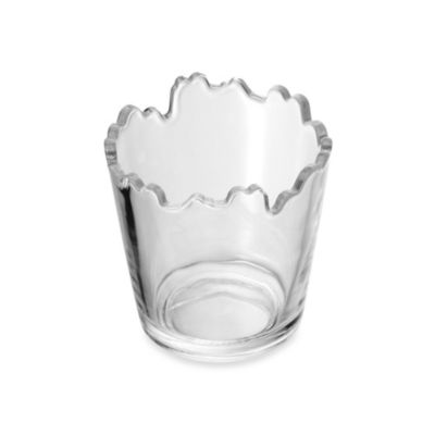 Mikasa® 3-Inch Jagged Edge Clear Glass Tealight Holder