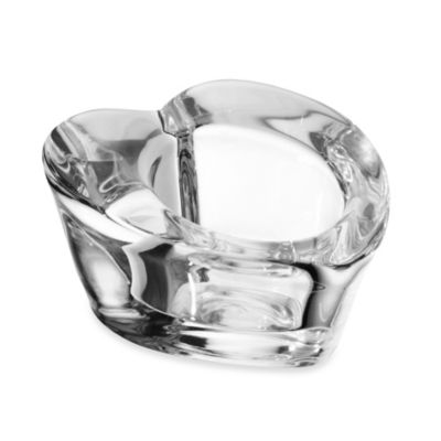 Mikasa® 3-Inch Heart Clear Glass Tealight Holder