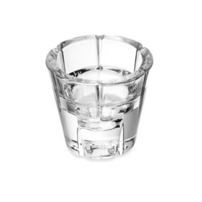 Mikasa® 3-Inch Modern Clear Glass Tealight Holder