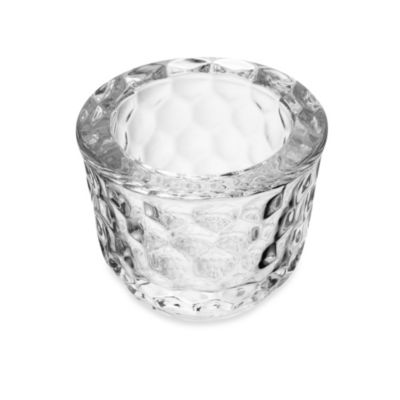 Mikasa® 3-Inch Rain Drop Cut Clear Glass Tealight Holder