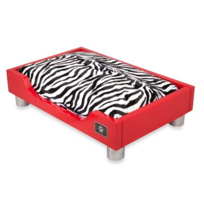 LazyBonezz Madison Pet Bed in Fire Red