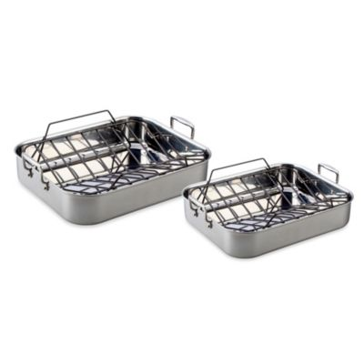 Le Creuset® Small Roaster Set in Stainless Steel