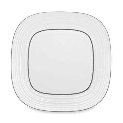 Mikasa® Swirl Square Banded 12-Inch White Platter