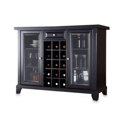 Crosley Newport Sliding Top Bar Cabinet in Cherry