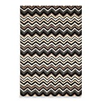 Trans-Ocean Zigzag Indoor/Outdoor Rug in Black/White