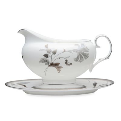 Noritake® Islay Platinum 16-Ounce Gravy Bowl & Tray Set