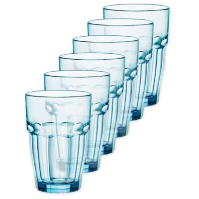 Bormioli Rocco Rock Bar Lounge Double Old Fashioned Glass in Blue (Set of 6)