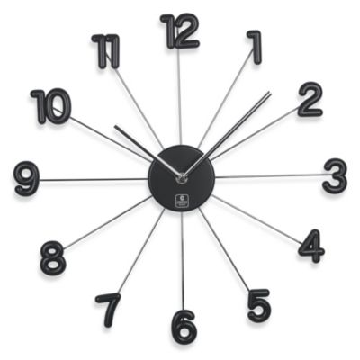 Cupecoy Design 16-Inch Spike Wall Clock with Aluminum Hands