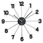 Cupecoy 16-Inch Spike Wall Clock with Aluminum Hands