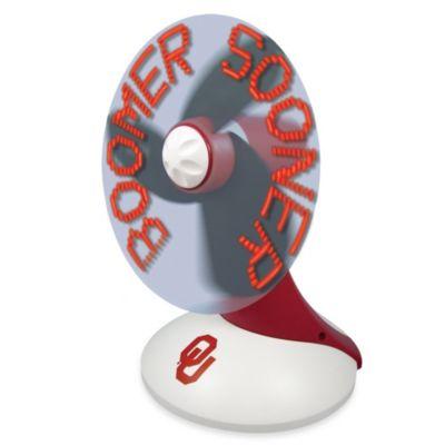 Oklahoma Sooners Light Up Desktop Message Fan