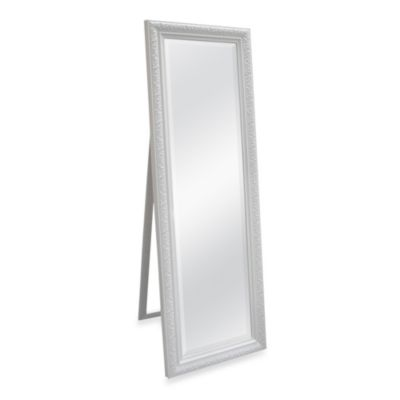 White Cheval Mirror With Bevel