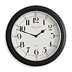 16-Inch Black & Chrome Wall Clock