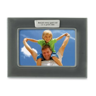 """Great Dad"" 4-Inch x 6-Inch Photo Frame"