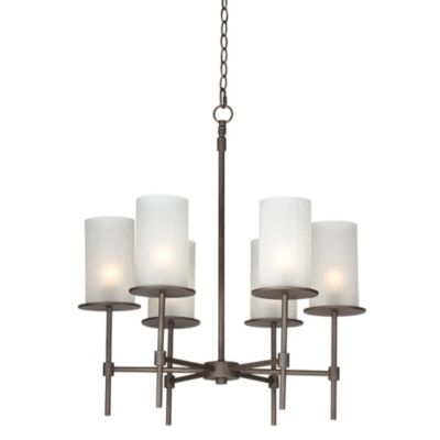 Pacific Coast Lighting® Soledad 6-Light Chandelier in Dark Bronze Finish