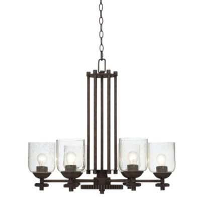Pacific Coast Lighting® Livingston 6-Light Chandelier with Industrial Gears
