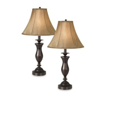 Pacific Coast® Lighting Essentials New England Village Table Lamp (Set of 2)