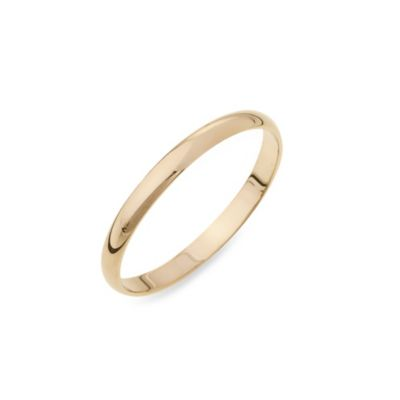 10K Yellow Gold Women's 2MM Plain Wedding Size 6 Ring