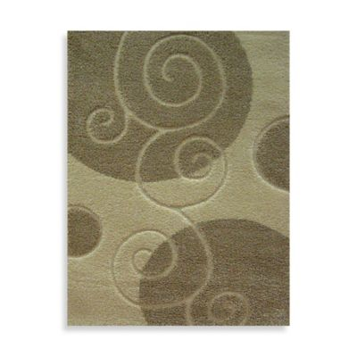 Concord Global Trading Scroll 2-Foot 7-Inch x 4-Foot 1-Inch Rug in Ivory