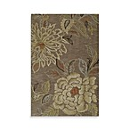 Sensation Floral Rugs in Mocha