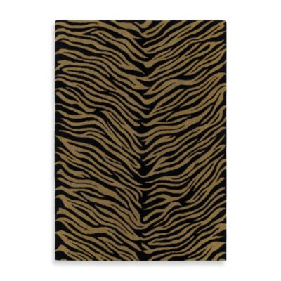 Kaleen Khazana Collection Tanganyika 2-Foot 3-Inch x 7-Foot 6-Inch Rug in Ebony