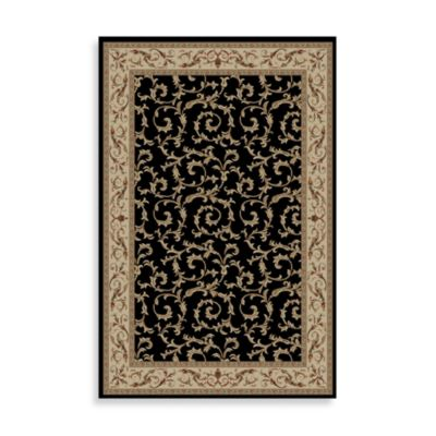 Veronica 5-Foot 3-Inch x 7-Foot 7-Inch Indoor Rug in Black