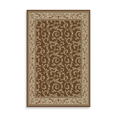 Concord Global Veronica 3-Foot 11-Inch x 5-Foot 7-Inch Rug in Brown