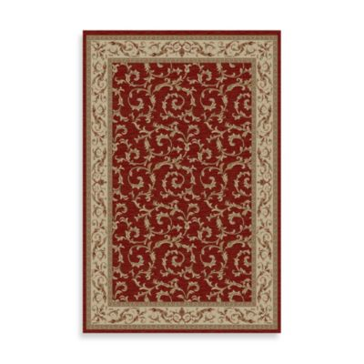 Concord Global Trading Veronica 7-Foot 10-Inch x 9-Foot 10-Inch Rug in Red