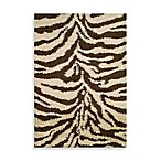 Shaggy Zebra Rug in Natural