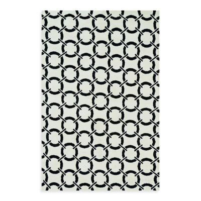 Loloi Rugs Charlotte 3-Foot 6-Inch x 5-Foot 6-Inch Indoor Rug in Ivory with Onyx