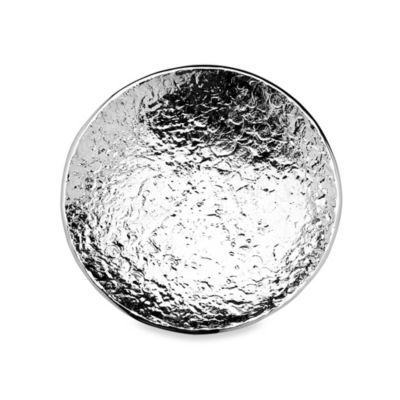 Godinger Round Shallow Serving Bowl in Brushed Aluminum