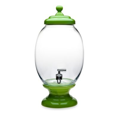 Green Glass Dispenser
