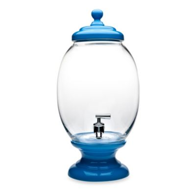 Godinger Glass Porcelain Beverage Dispenser