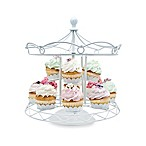 Godinger Carousel Cupcake Holder in White