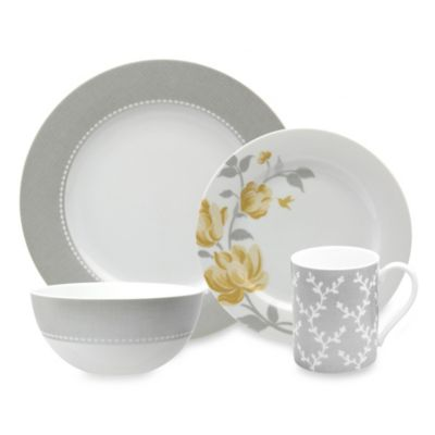 Nikko Fanciful 4-Piece Place Setting in Yellow