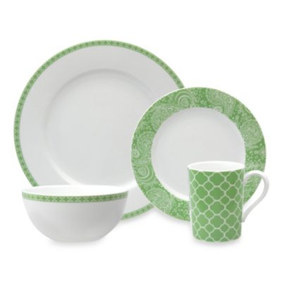 Nikko Faithful 4-Piece Place Setting in Green