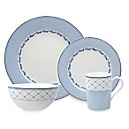 Nikko Blue Brushstroke 4-Piece Place Setting
