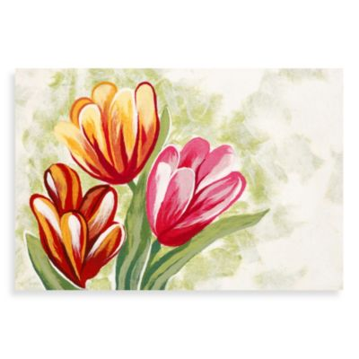 Outdoor Mat with Tulips
