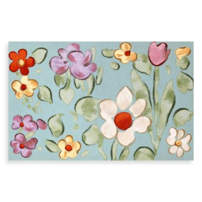 Liora Manne Watercolor Flower Door Mat